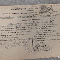 Documentos antiguos: LOTE DOCUMENTOS CATASTRALES AÑOS 1900-1940. Lote 177278387