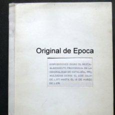Documentos antiguos: (JX-190976)RESTABLECIMIENTO GENERALITAT CATALUNYA ENTREGADO X D.ADOLFO SUAREZ A D.JOSEP TARRADELLAS. Lote 177377452
