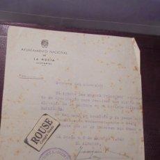 Documentos antiguos: LA NUCIA ( ALICANTE ) DOCUMENTO 3 MAYO 1948 AYUNTAMIENTO NACIONAL DE LA NUCIA DIFUSION DE LA REVISTA. Lote 177499892