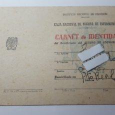 Documentos antiguos: CAJA NACIONAL DE SEGURO DE ENFERMEDAD. AÑO 1946. Lote 177585965
