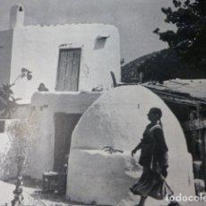 Documentos antiguos: IBIZA VIVIENDA IBICENCA LAMINA HUECOGRABADO AÑOS 50. Lote 177681300