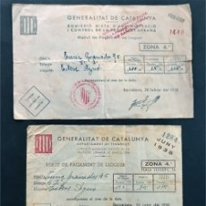 Documentos antiguos: 3 DOCUMENTOS GUERRA CIVIL / GENERALITAT - AJUNTAMENT / BARCELONA. Lote 177654260