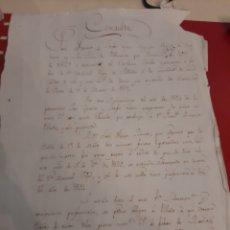 Documentos antiguos: 1829 CONSULTA HIPOTECAS MAÑENTE SAN JUAN VILLARONTE LUGO. Lote 177713007