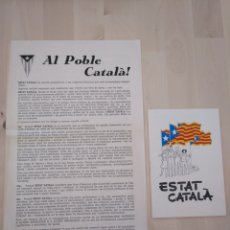 Documentos antiguos: LOT ESTAT CATALÀ. Lote 177783695