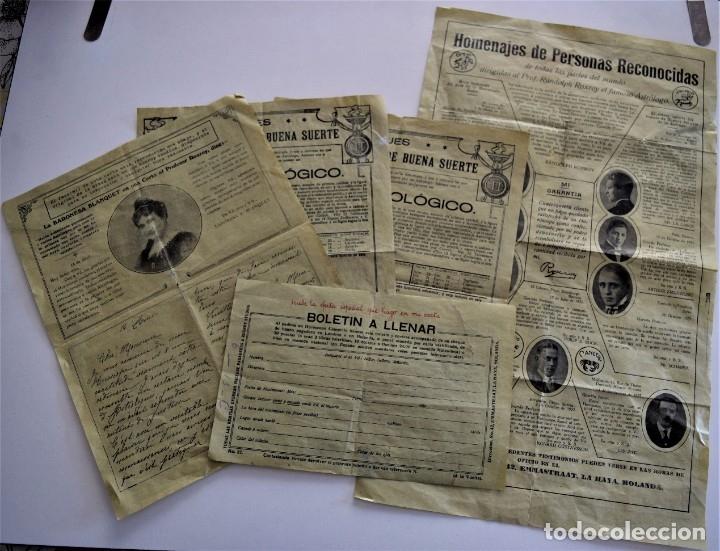 PUBLICIDAD AÑOS 20 DEL FAMOSO ASTRÓLOGO ROXROY STUDIOS DE LA HAYA EN ESPAÑOL - UNA MARAVILLA (Coleccionismo - Documentos - Otros documentos)
