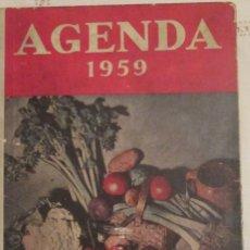 Documentos antiguos: AGENDA ALMANAQUE DE 1959. USADA, DIFERENTES SECCIONES. Lote 178231026