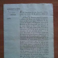 Documentos antiguos: 1826 EXTERMINIO DE LA LANGOSTA - RENTAS DE VICH. Lote 178266731