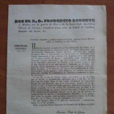 Documentos antiguos: 1851 CIRCULAR CONVOCATORIA DEL OBISPO DE GERONA. Lote 178270521