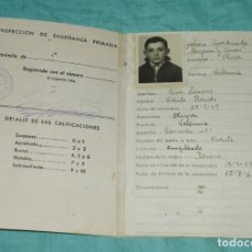 Documentos antiguos: CARTILLA DE ESCOLARIDAD - MAYANS Y CISCAR - OLIVA - VALENCIA 1955.. Lote 178309800