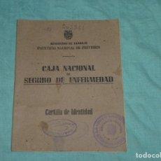 Documentos antiguos: CARTILLA DE IDENTIDAD - CAJA NACIONAL SEGURO DE ENFERMEDAD.1950.. Lote 178309966