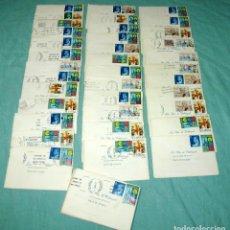 Documentos antiguos: LOTE DE 52 INVITACIONES DE BODA - SOBRE CON SELLOS Y TARJETA.. Lote 178310556