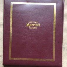 Documentos antiguos: MARRIOT, NEW YORK MARQUIS. ANTIGUA CARPETA PARA CLIENTE DEL HOTEL MARRIOT, CON SOBRES Y HOJAS.. Lote 178394257