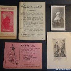 Documentos antiguos: LOTE DE 5 ESTAMPAS Y DOCUMENTOS RELIGIOSOS ANTIGUOS, VER FOTOS. Lote 178400092