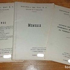 Documentos antiguos: PROYECTO ESTUDIO FACULTATIVO MINAS AÑO 64. Lote 178445290