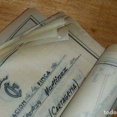 Documentos antiguos: LOTE PLANOS AÑOS 50. Lote 178445477