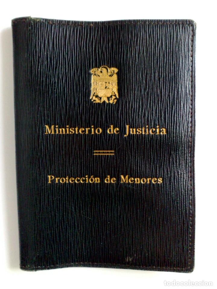 Documentos antiguos: CARNET DE IDENTIDAD,MINISTERIO DE JUSTICIA,PROTECCIÓN DE MENORES (EXP. 1942) MEDICO BAJARDI LOPEZ. - Foto 2 - 178567122