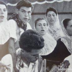 Documentos antiguos: MALLORCA GRUPO FOLKLORICO ANTIGUA LAMINA HUECOGRABADO AÑOS 50. Lote 178583305