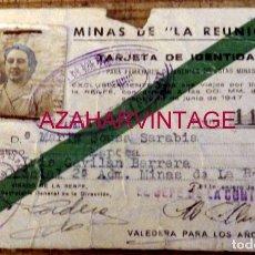 Documentos antiguos: CARNET MINAS DE LA REUNION, FERROCARRILES MADRID A ZARAGOZA Y ALICANTE, RARISIMO. Lote 178597182