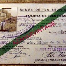 Documentos antiguos: CARNET MINAS DE LA REUNION, FERROCARRILES MADRID A ZARAGOZA Y ALICANTE, RARISIMO. Lote 178597242