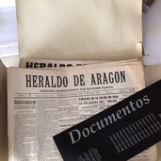 Documentos antiguos: DOCUMENTOS HERALDO DE ARAGON - HISTORIA DE UN CENTENARIO 1895 - 1995. Lote 178637452