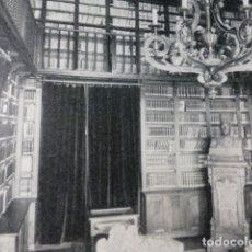 Documentos antiguos: SANTIAGO DE COMPOSTELA UNIVERSIDAD BIBLIOTECA BUSTO ANTIGUA LAMINA HUECOGRABADO AÑOS 40. Lote 178649141