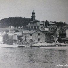 Documentos antiguos: ALDAN PONTEVEDRA VISTA ANTIGUA LAMINA HUECOGRABADO AÑOS 40. Lote 178654882