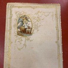 Documentos antiguos: ANTIGUO PAPEL DE CARTA MODERNISTA, PPPP CON RELIEVE. TAMAÑO CUARTILLA ,CROMO TROQUELADO. PPIOS 1900. Lote 178664018