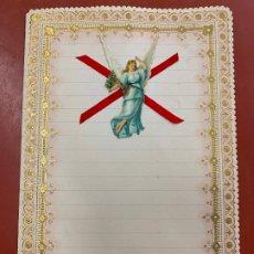 Documentos antiguos: ANTIGUO PAPEL DE CARTA MODERNISTA, CON RELIEVE. TAMAÑO CUARTILLA ,CROMO TROQUELADO. PPIOS 1900. Lote 178664246