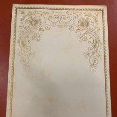 Documentos antiguos: ANTIGUO PAPEL DE CARTA MODERNISTA, CON RELIEVE. TAMAÑO CUARTILLA , PPIOS 1900. Lote 178671856