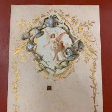 Documentos antiguos: ANTIGUO PAPEL DE CARTA MODERNISTA, CON RELIEVE. TAMAÑO CUARTILLA DOBLE,CROMO TROQUELADO . PPIOS 1900. Lote 178688163