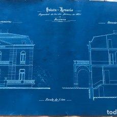Documentos antiguos: ANTIGUOS PLANOS DE HOSTALETS DE BALENYÀ- QUINTO ROSARIO PROPIEDAD BARONES DE OLLER 20-1-1911.. Lote 178780681