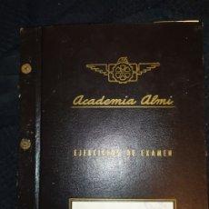 Documentos antiguos: ACADEMIA ALMI EJERCICIOS DE EXAMEN CREO AÑOS 80. Lote 178936942