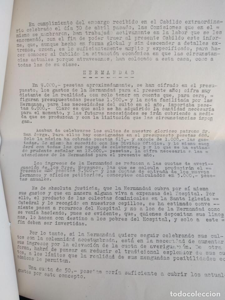 Documentos antiguos: Dos documentos de la Humilde y Real Hermandad de la Santa Caridad. 1944. 1955. - Foto 2 - 178956313