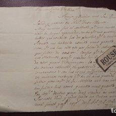Documentos antiguos: BARCELONA / CAR4DEDEU , 1820 - CARTA MANDADA POR JUAN LLORENS AL SR. THOMAS BALVEY . Lote 178959656
