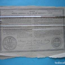 Documentos antiguos: BULA - INDULTO APOSTOLICOO DE LA LEY DE ABSTINENCIA Y AYUNO - TOLEDO 15 SEPTIEMBRE 1921. Lote 178986732