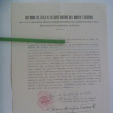 Documentos antiguos: TITULO SANTOS MARTIRES VITO, MODESTO Y CRESCENCIA: NOMBRAMIENTO Nª.Sª AGUILA , ALCALA GUADAIRA. Lote 178993963