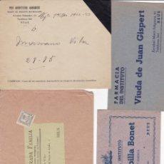 Documentos antiguos: 4 SOBRES DE REUS TARRAGONA . Lote 178997342