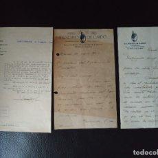 Documentos antiguos: 1940 GUERRA CIVIL REGIONES DEVASTADAS TARRAGONA BENIFALLET BALNEARIO DE CARDO. 3 DOCUMENTOS. Lote 179034440