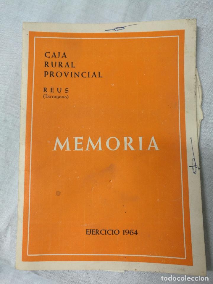 MEMORIA CAJA RURAL PROVINCIAL - REUS 1964 (Coleccionismo - Documentos - Otros documentos)