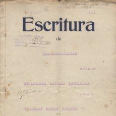 Documentos antiguos: ESCRITURA DE ARRENDAMIENTO MANRESA 1922. Lote 179108827
