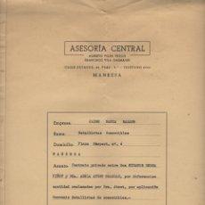 Documentos antiguos: CONTRATO DE ALQUILER CONVENIO GREMIO DETALLISTAS DE COMESTIBLES MANRESA 1964. Lote 179108900