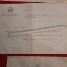 Documentos antiguos: AUDITOR GENERAL PRIMERA REGION Y PRIMER CUERPO EJÉRCITO BARCO AVILA 1958. Lote 179139118