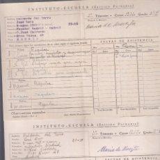 Documentos antiguos: INSTITUTO-ESCUELA. SECCIÓN PRIMARIA Y SEGUNDA ENSEÑANZA. PAPELETAS DE CALIFICACIONES 1932-6. Lote 179213251