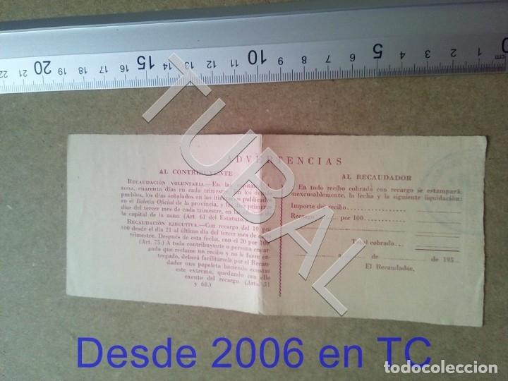 Documentos antiguos: TUBAL GURB vich 1958 CONTRIBUCION TERRITORIAL RIQUEZA RUSTICA ENVIO 70 CENT 2019 B05 - Foto 2 - 179243537