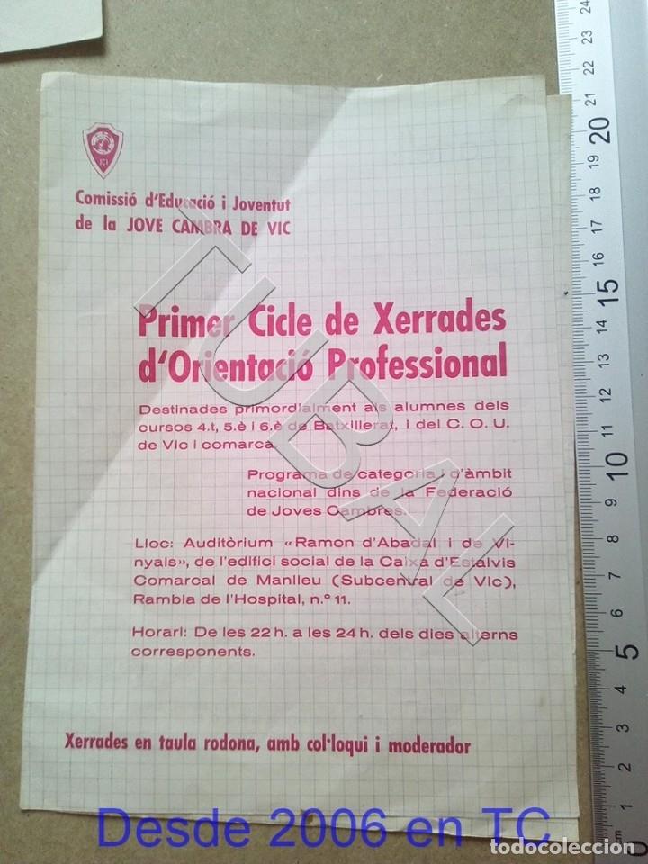 TUBAL VICH 1970 JOVE CAMBRA DE VIC ENVIO 70 CENT 2019 B05 (Coleccionismo - Documentos - Otros documentos)