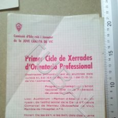 Documentos antiguos: TUBAL VICH 1970 JOVE CAMBRA DE VIC ENVIO 70 CENT 2019 B05. Lote 179244470