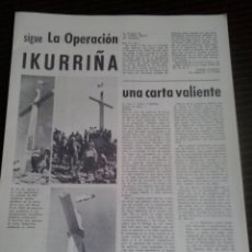 Documentos antiguos: DOCUMENTO POLITICO EXILIO PAIS VASCO FRANQUISMO EUSKO GAZTEDI GUDARI EUSKADI MARZO 1966. Lote 179338018