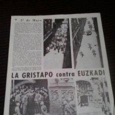 Documentos antiguos: DOCUMENTO POLITICO EXILIO PAIS VASCO FRANQUISMO EUSKO GAZTEDI GUDARI EUSKADI MARZO 1967. Lote 179338080