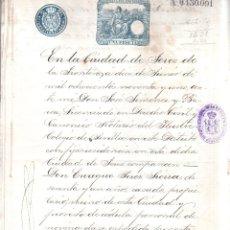 Documentos antiguos: MARQUES DE MISA. CORTIJO DE TABAJETE. ESCRITURA . VINOS. 1891.. Lote 179385401