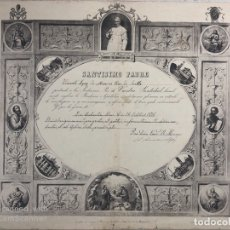 Documentos antiguos: CERTIFICADO DE BENDICION APOSTOLICA E INDULGENCIA PLENARIA. SANTA SEDE. VATICANO, 1876. . Lote 179386468